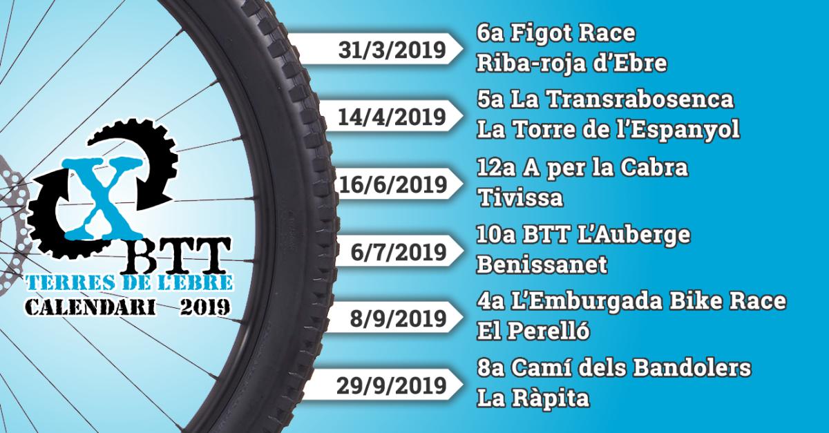 Calendari Xallenger BTT Terres de l'Ebre 2019